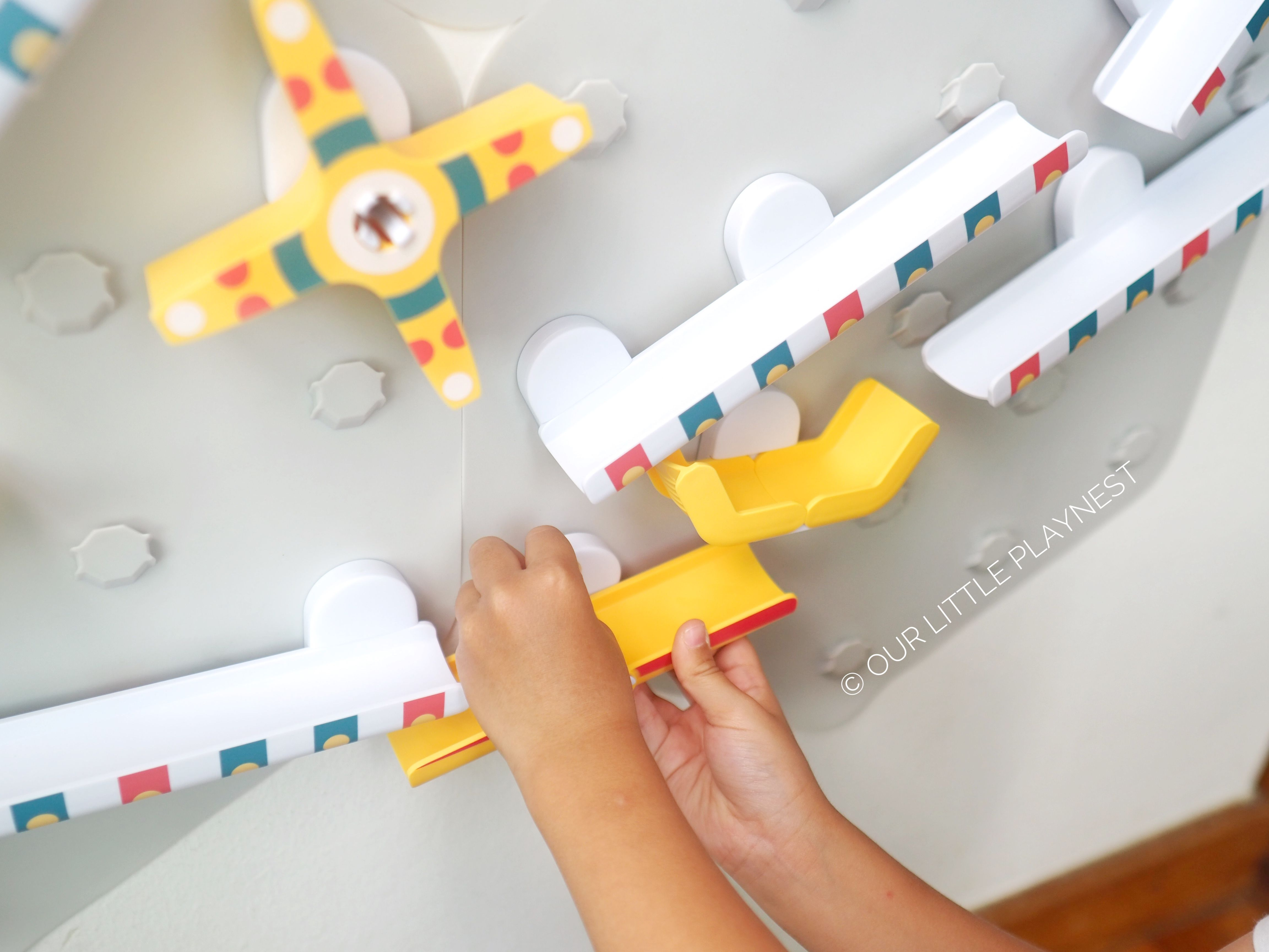 our little playnest marble run toy STEM oribel VertiPlay